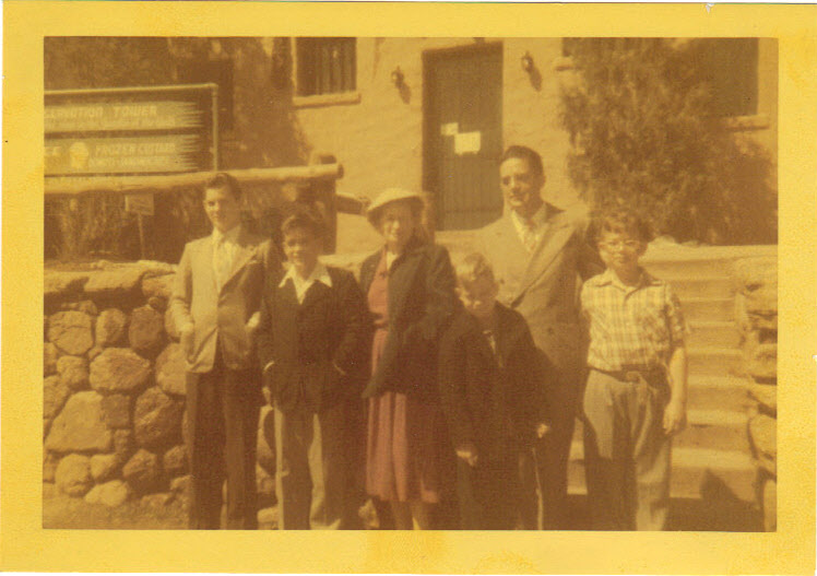 Carsey family 1953: From left: Alan, Norman, Elizabeth, Tommy, Arnold, Frank
