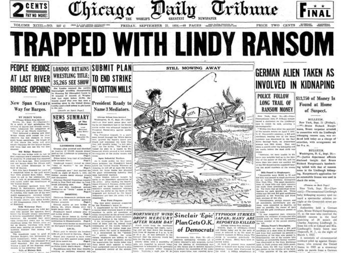 Chicago Daily Tribune Sept 21, 1934