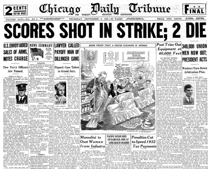 Chicago Daily Tribune Sept 6,1934