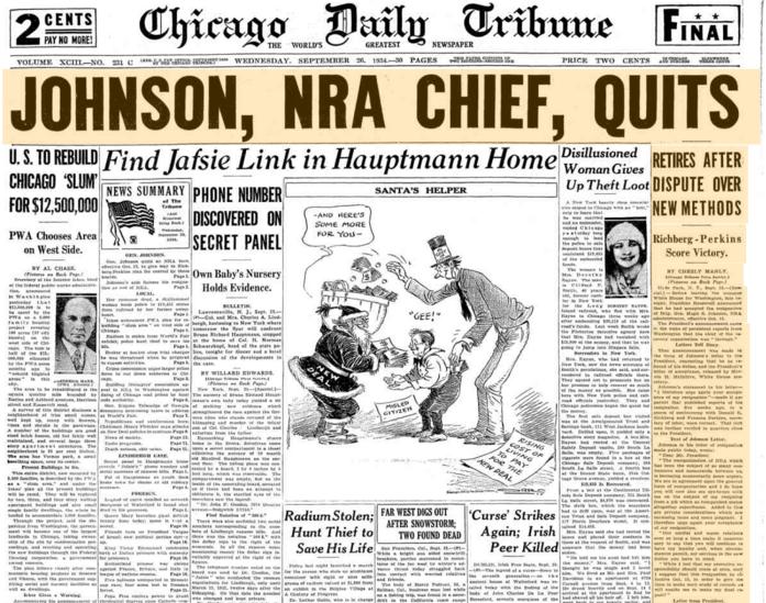 Chicago Daily Tribune Sept 26, 1934