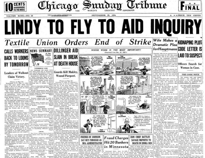 Chicago Daily Tribune Sept 23, 1934
