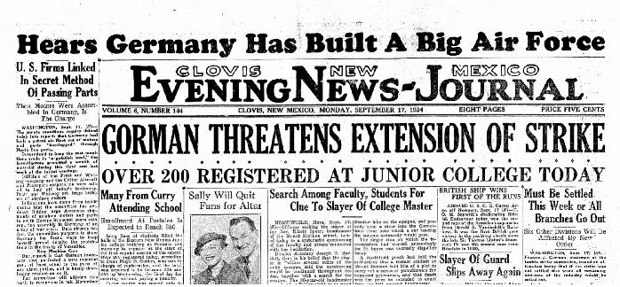 Clovis News-Journal Sept 17, 1934