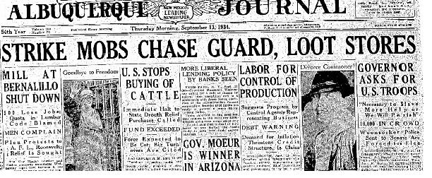 Aluquerque Journal Sept 13, 1934