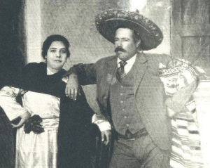 Wedding photo of  Pancho Villa and Austreberta Rentería 1921