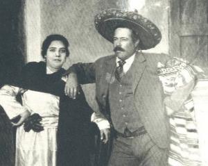 Wedding photo of  Pancho Villa and Austreberta Rentería 1921