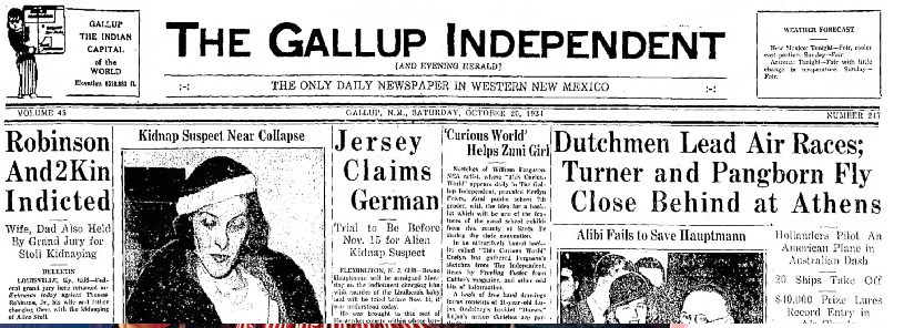 Gallup Indepenent Oct 20, 1934
