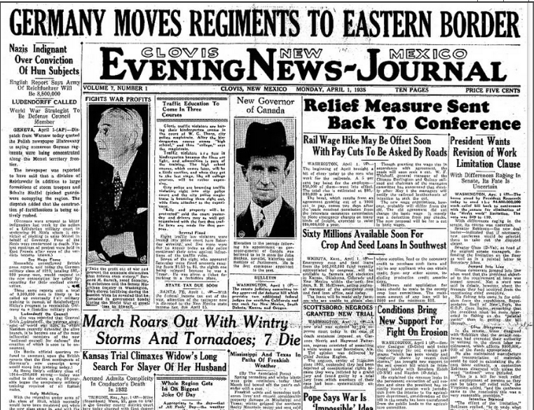 Clovie News-Journal Clovis, NM April 1, 1935