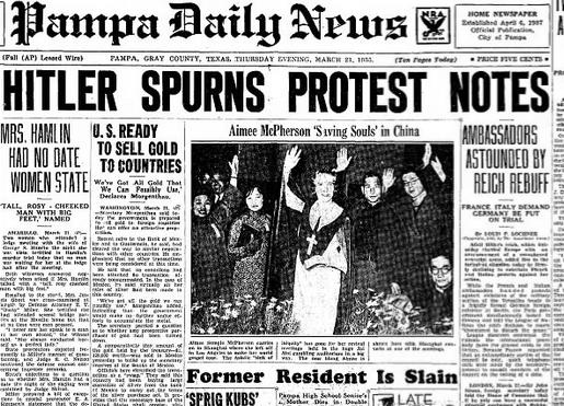 Pampa Daily News Pampa, TX March 21, 1935