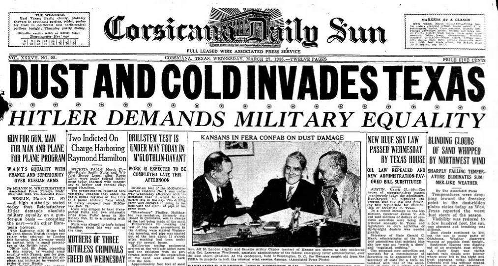 Corsicana Daily Sun Coriscana TX March 27, 1935