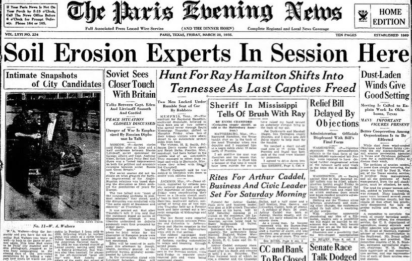 The Paris Evening News Paris, TX March 29, 1935