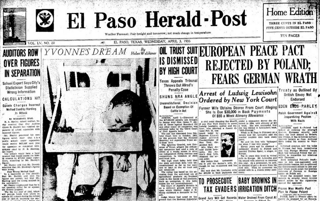 El Paso Herald-Post El Paso, TX April 3, 1935