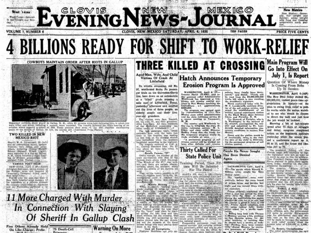 Clovis News-Journal Covis NM April 6, 1935
