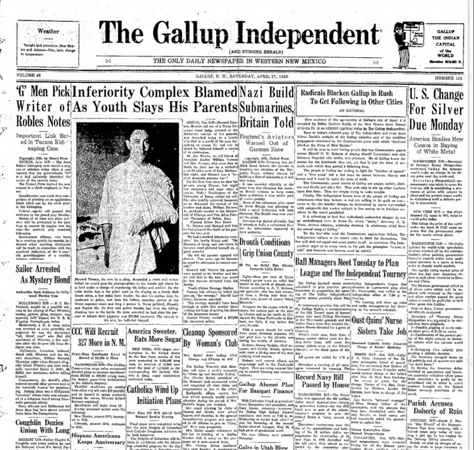 The Gallup Independent Gallup, NM April 27, 1935