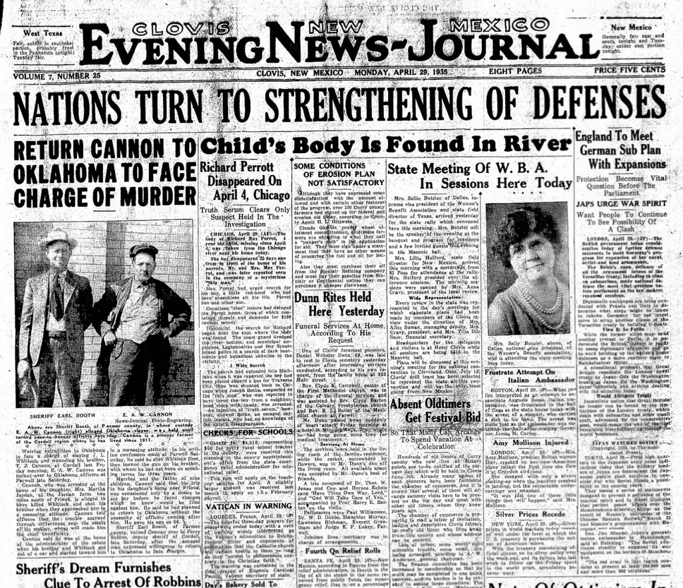 Clovis News Journal Clovis, NM April 29, 1935