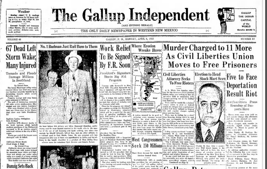 The Gallup Independent Gallup, NM April 8, 1935