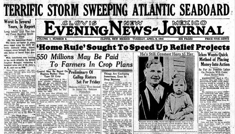 Clovis Evening News Journal Clovis, NM April 9, 1935