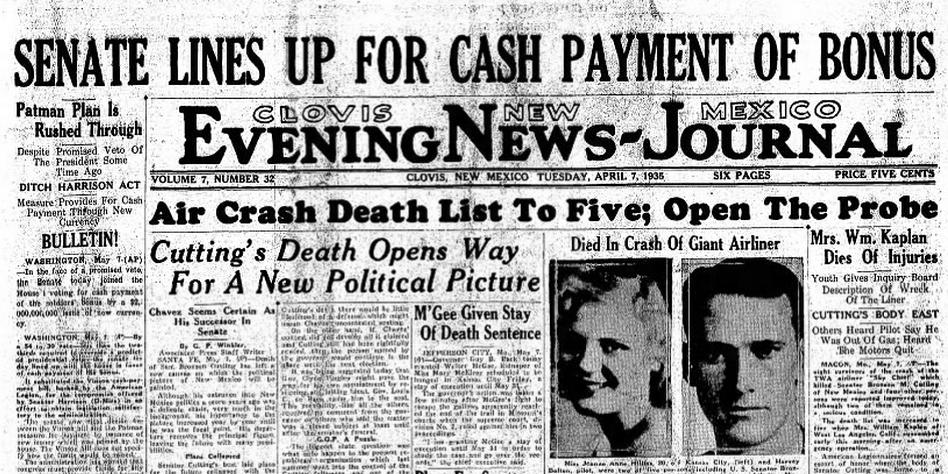Clovis Evening News Journal Clovis, NM May 7, 1935