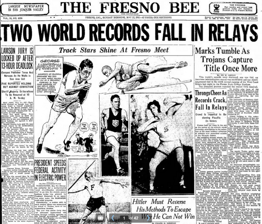 The Fresno Bee  Fresno, CA  May 12, 1935