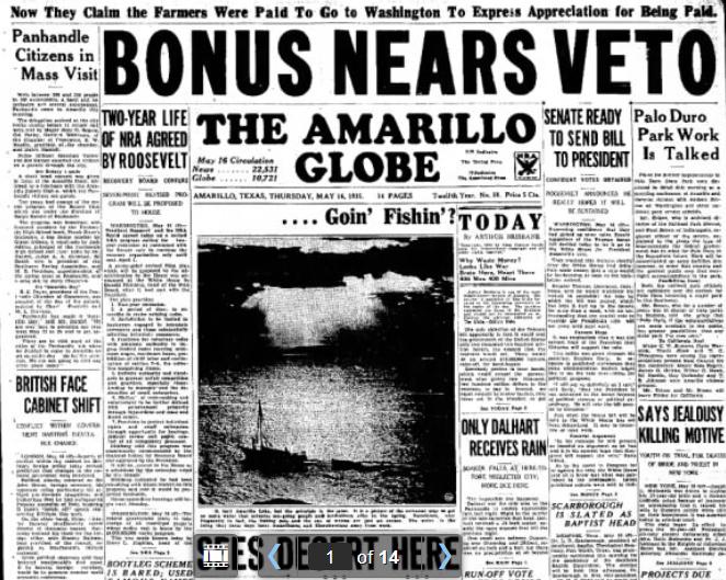 The Amarillo Globe-Times Amarillo, TX May 16, 1935