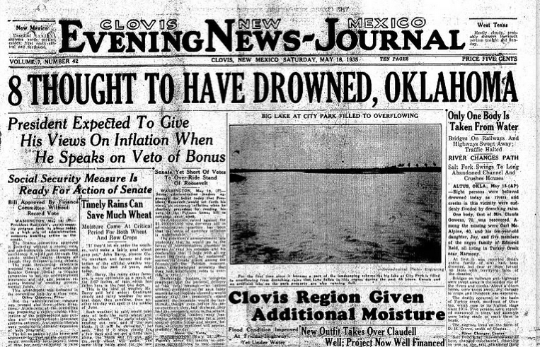 Clovis Evening News Journal Clovis, NM May 18, 1935