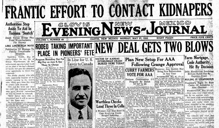 Clovis Evening News Journal Clovis, NM May 27, 1935