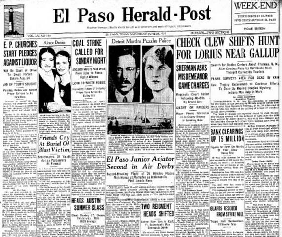 El Paso Herald Post El Paso, TX June 29, 1935