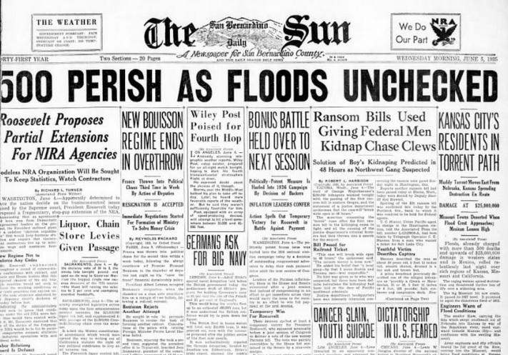 The San Bernardino County Sun San Bernardino CA June 5, 1935