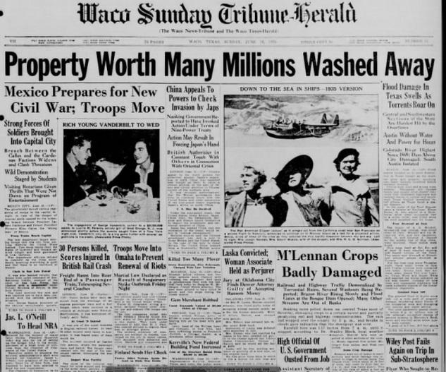 Waco Sunday Tribune Herald Waco, TX June 16, 1935