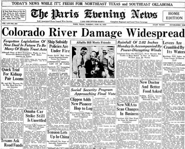 The Paris Evening News Paris, TX June 18, 1935