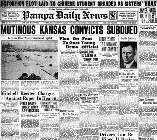 Pampa Daily News Pampa, TX June 19, 1935
