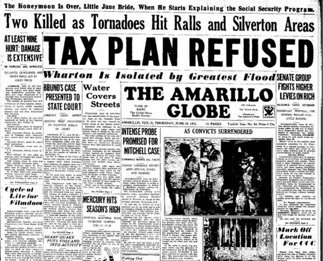 The Amarillo Globe - Times Amarillo, TX June 20, 1935
