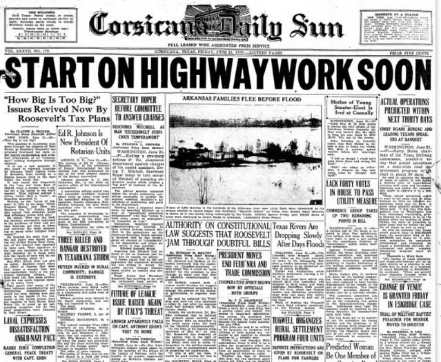 Corsicana Daily Sun Corsicana, TX June 21, 1935