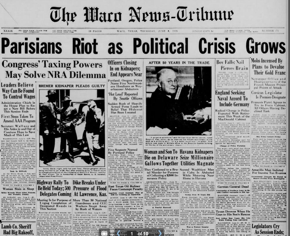 The Waco News Tribune Waco, TX  June 6, 1935