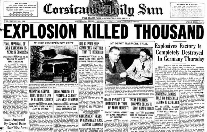 Corsicana Daily Sun Corsicana, TX June 13, 1935