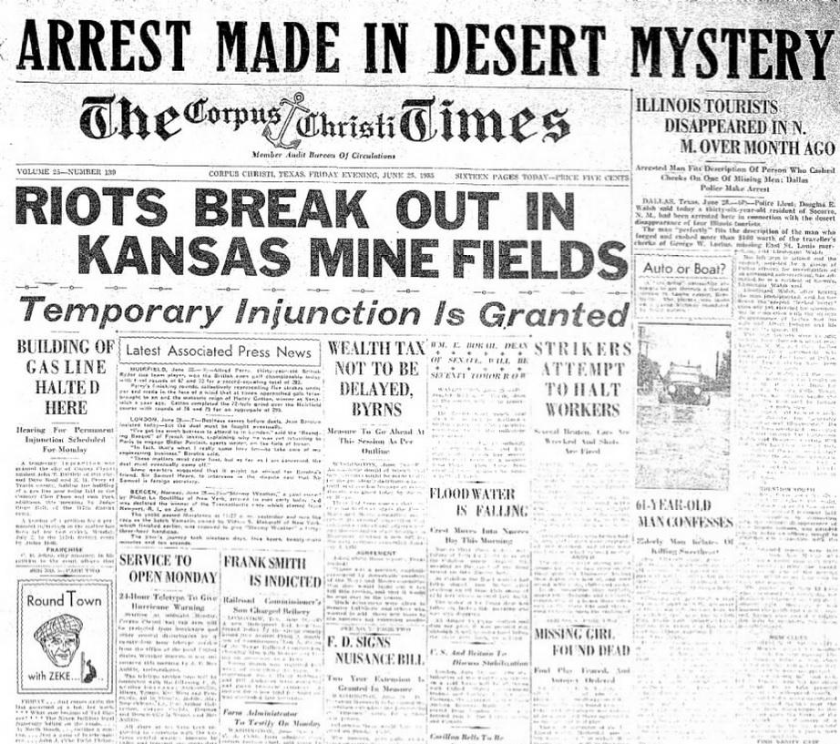 The Corpus Christie Times Corpus Christie, TX June 28, 1935