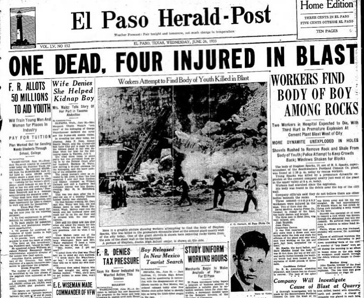 El Paso Herald-Post El Paso, TX june 26, 1935
