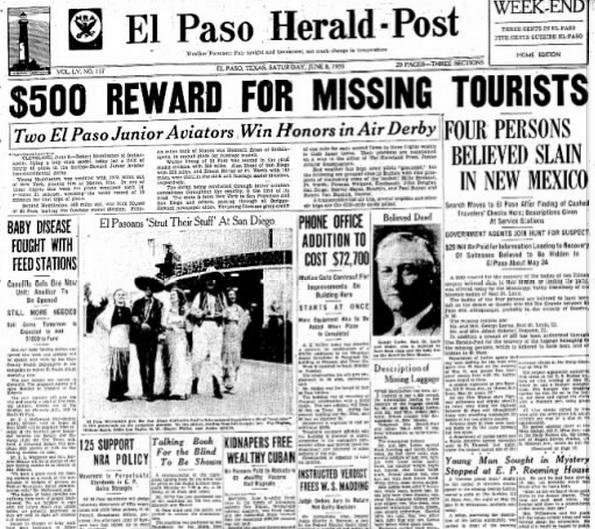 El Paso Herald Post El Paso, TX June 8, 1935