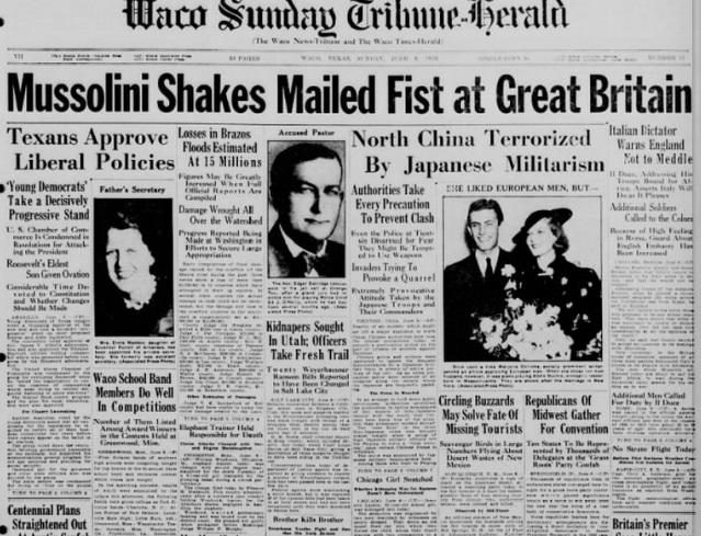 Waco Sunday Tribune Herald Waco, TX June 9, 1935
