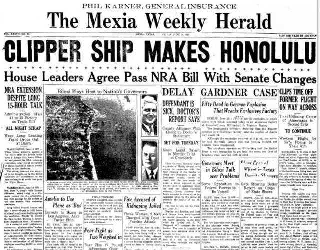 The Mexia Weekly Harold  Mexia, TX June 14, 1935