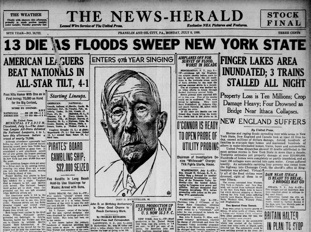 The News Herald Franklin, PA  July 8, 1935