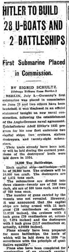 The Chicago Tribune July 9, 1935 pg. 6