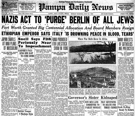 Pampa Daily News July 21, 1935