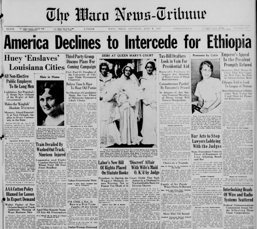 The Waco News Tribune July 6, 1935