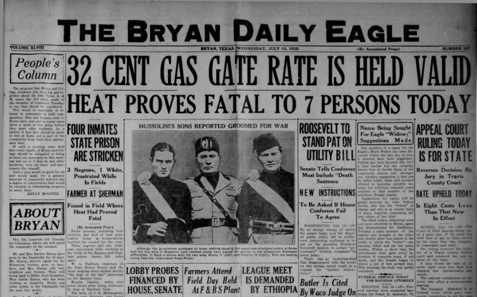 They Bryan Daily Eagle  July 10, 1935