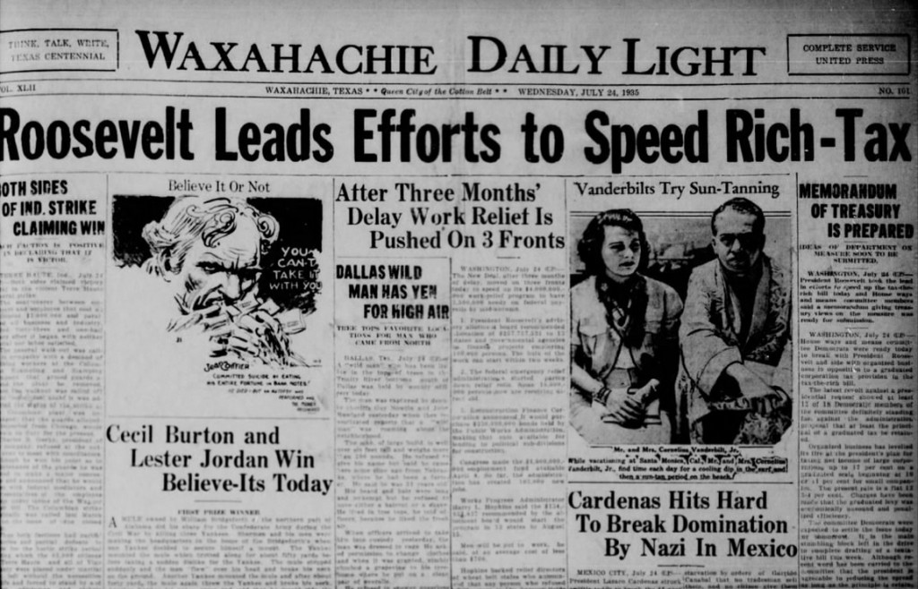 The Waxahachie Daily Light July 24, 1935