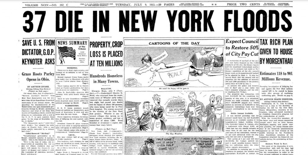 The Chicago Tribune July 9, 1935 pg. 1