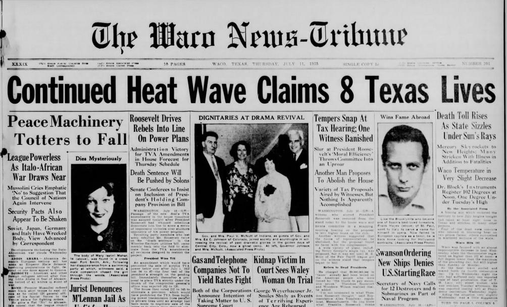 The Waco news-Tribune Waco, TX  July 11, 1935