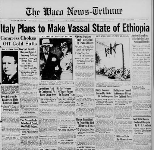 The Waco News Tribune  July 19, 1935