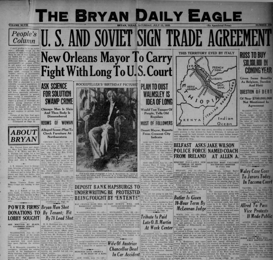 The Eagle Bryan, Texas July 13, 1935