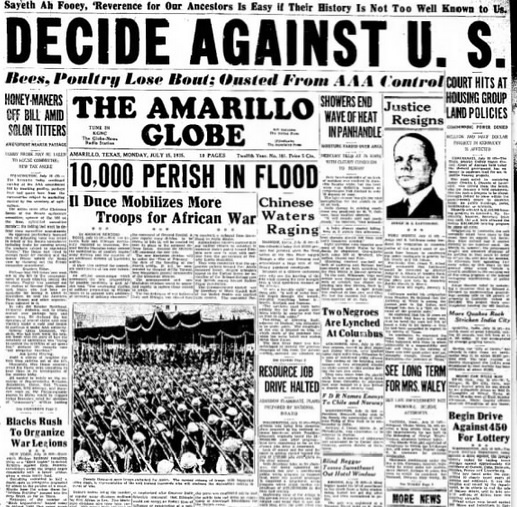 The Amarillo Globe July 15, 1935